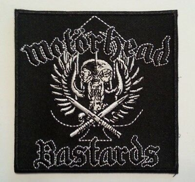 "Motorhead Bastards~Embroidered Applique Patch~3 1/2"" x 3 1/2""~Iron or Sew On"