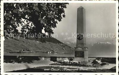 12586284 Cully VD Monument Davel Lac Leman Denkmal Genfersee Alpen Cully