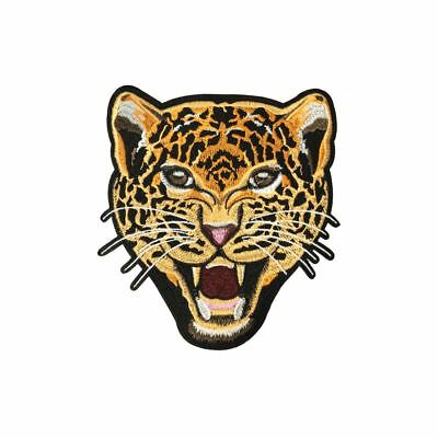 Roaring Leopard (Iron On) Embroidery Applique Patch Sew Iron Badge