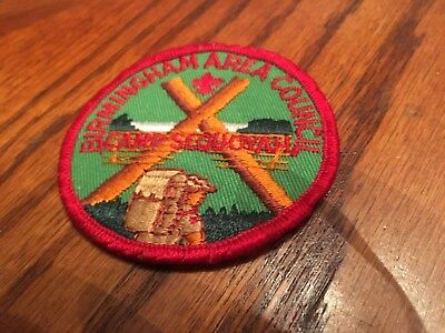 Bsa Camp Sequoyah Round Patch Vintage Birmingham Area Council