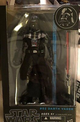 """Darth Vader STAR WARS The Black Series 6"""" Figure AUTHENTIC #02 Sealed Blue Line"""