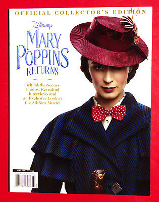 Walt Disney Mary Poppins Returns Official Collector'S Edition Book 2018 New