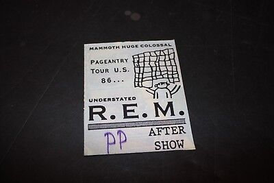 R.E.M. Used After Show Pass Pittsburgh 1986 VG