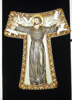 Beautiful bas relief wall plaque Saint Francis of Assisi