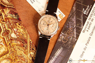 1950s Vintage DOXA VALJOUX 72C Triple French Day Date Calendar Chronograph Watch