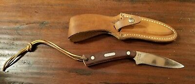 SCHRADE  USA 1540T OLD TIMER Fixed Blade Knife & Leather Sheath