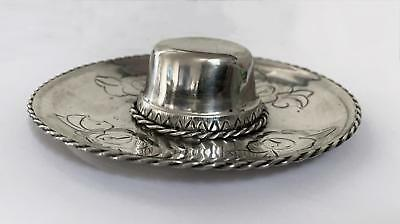 Dittrich & Silberfeld - Chile *sterling Silver* 900 Signed Sombrero Hat Rare Vtg