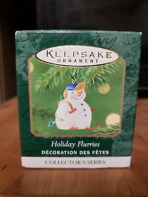Hallmark Keepsake Christmas Ornament Holiday Flurries Snowman 2001 Miniature