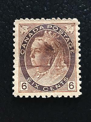 MH OG SC#80 - 6c Queen Victoria Numeral (creased)
