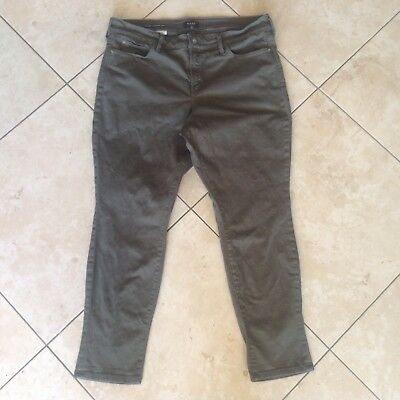NYDJ Alina Convertible Ankle 16 True Olive Army Green Stretch Jeans EUC