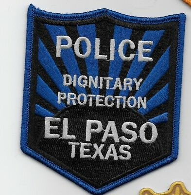 El Paso Police Dignitary Protection State Texas TX patch