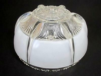 Vintage Art Deco 3-Hole Chain Hanging Clear Frosted Light Shade