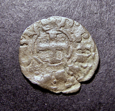 Medieval Crusader Coin, Templar Knights, Iron Cross, Tournois Castle, c 13th AD