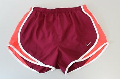 Nike Womens Dri Fit Athletic  Tempo Lined Running Shorts Size Small S Maroon
