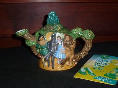 "Wizard of Oz ""Follow The Yellow Brick Road"" Porcelain Teapot"