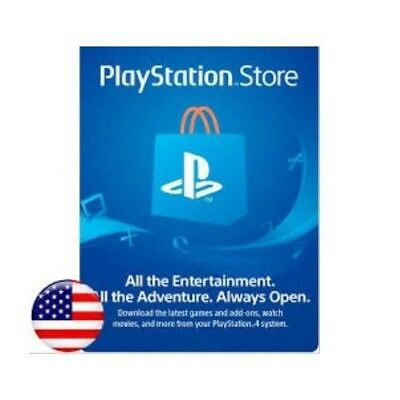 Playstation Network $10 -  PSN Gift Card, USA Store, Digital Download.