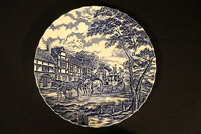 Myott Royal Mail Blue Staffordshire Ware Dinner Plate