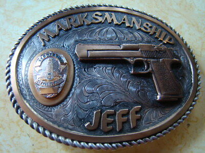 Rare Last Action Hero Slater LAPD Sterling Silver Buckle Gift From Arnold 1992