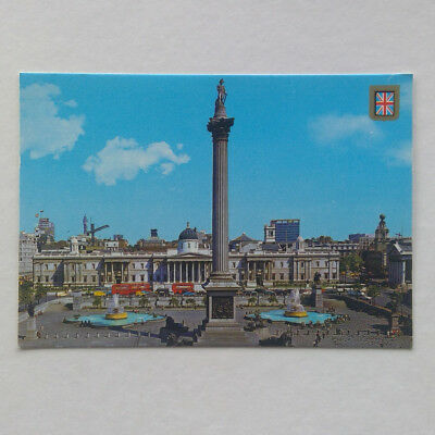 London Nelson's Column and Trafalgar Square Postcard (P347)