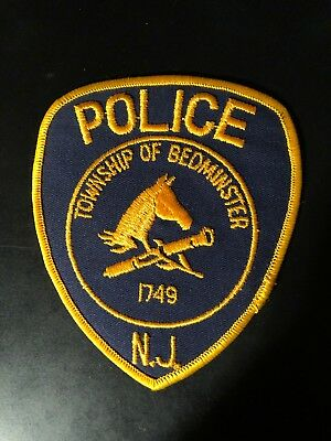 Bedminster  New Jersey  Police  Shoulder  Patch