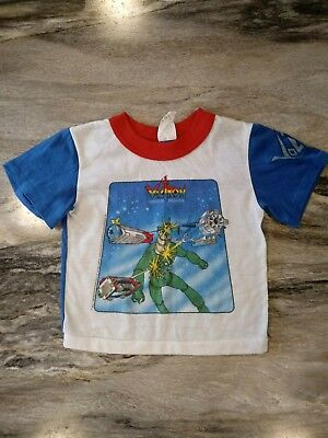 YOUTH S Vintage 1984 Voltron Video Game Shirt 80s red ringer blue labeled sleeve