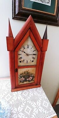 Antique Steeple Clock-J J Beals & Co.-Boston-Terry & Andrews Lyre 8 Day Movement