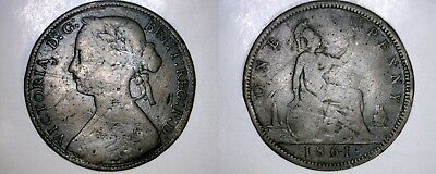 1861 Great Britain One Penny World Coin - UK - England