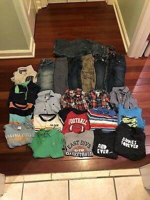 Lot Of 23 Boy Infant Toddler Clothing Size 18/24 Months/2T Tops Pants Overall