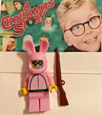 Lego Minifigure- A Christmas Story- Ralphie Pink Bunny Suit & Red Ryder Bb Gun!