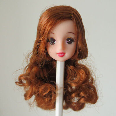 Head for Licca Mother Long Hair White Skin Red Lips Doll Head for Licca Mom Gift