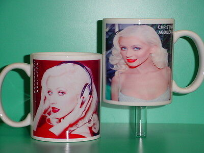 CHRISTINA AGUILERA - with 2 Photos - Designer Collectible GIFT Mug