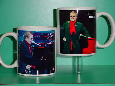 ELTON JOHN - with 2 Photos - Designer Collectible GIFT Mug 01