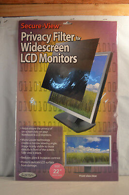 "Secure View Lcd Monitor Privacy Filter For 22"" Widescreen Mod. SVL22W BY KANTEK"