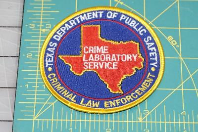 Texas Department Of Public Safety Crime Laboratory Service Patch (1006)