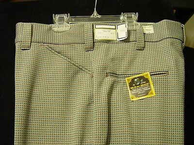70s or 80s NWT Old BAN-ROL olive orange PANTS Mens Sz 36/30 Polyester Flat front
