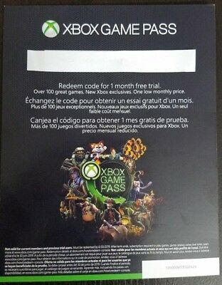 XBOX LIVE GOLD 14 Day + XBOX GAME PASS 1 Month TRIAL Membership Codes
