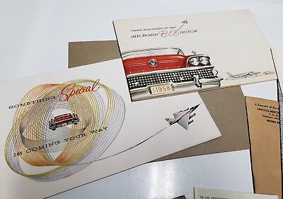 1958 Buick Car Sales Room Brochures