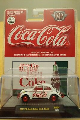 1967 VW BEETLE DELUXE M2 MACHINES 1 of 750 CHASE COCA COLA (COKE) 2018