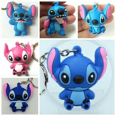 New Stitch Rubber Keyring Keychain bags Pendant 2Pc