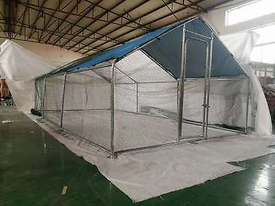 Chicken Coop Rabbit Cage Hen House Enclosure Guinea Pig Large Run  6x3x1.95M