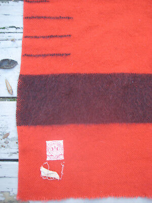 "Vintage Hudson Bay 3.5 Point Red And Black Blanket 60"" x 76"""