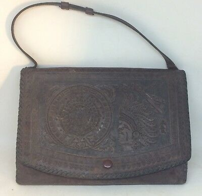 Antique / Vintage Mexican Tooled Leather Purse