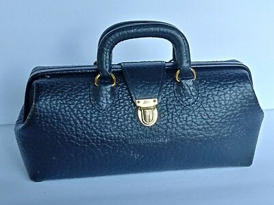 Antique Lilly Medical Doctors Bag Traveling MD Bags Walrus Leather Brass VINTAGE