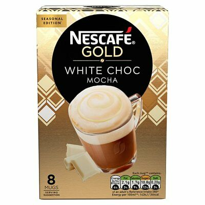 Nescafe coffee  Gold Menu White Choc Mocha Instant Coffee
