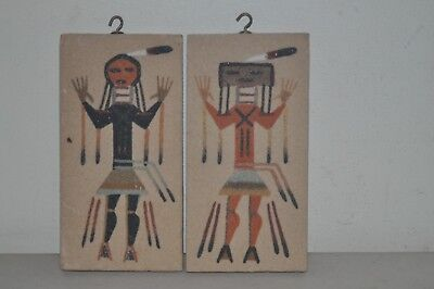 2 Small Authentic Navajo Sand Paintings