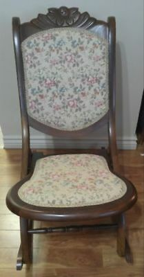 Nice embroidered rocking chair folding one