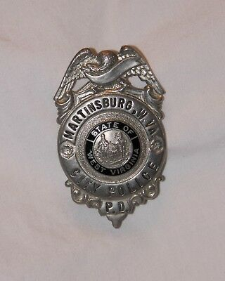 Obsolete Martinsburg, West Virginia City Police Badge/shield. Great Condition.