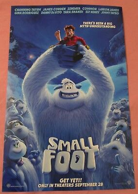 Small Foot Animated Movie Promo Poster Fan Expo Comic Con 2018 Zendaya