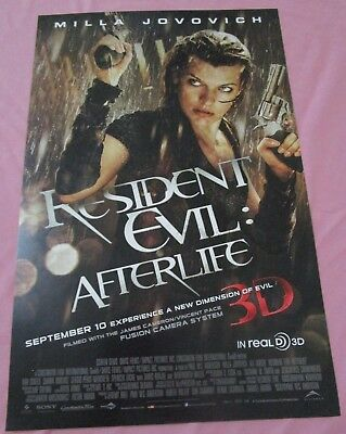 Resident Evil: Afterlife Promo Poster Fan Expo Comic Con Milla Jovovich