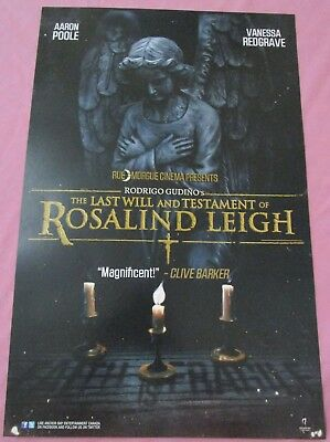 The Last Will & Testament of Rosalind Leigh Promo Poster Fan Expo Frankenstein